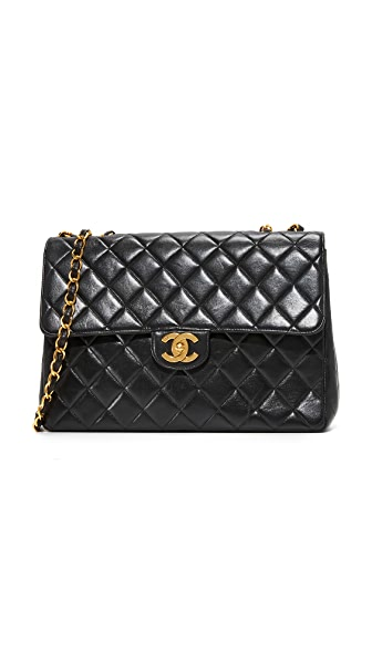 What Goes Around Comes Around Chanel Jumbo 2.55 Shoulder Bag (Previously Owned)