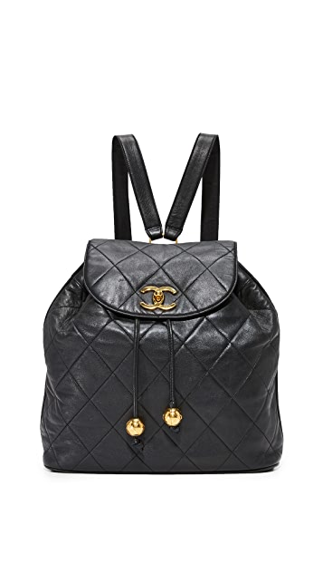 What Goes Around Comes Around Chanel Lambskin Backpack (Previously Owned)