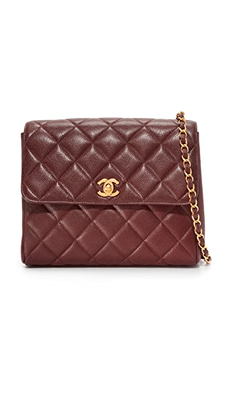 What Goes Around Comes Around Chanel Quilted Shoulder Bag (Previously Owned) - Burgundy