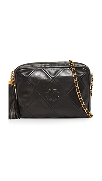 What Goes Around Comes Around Chanel Medium Camera Bag (Previously Owned) - Black