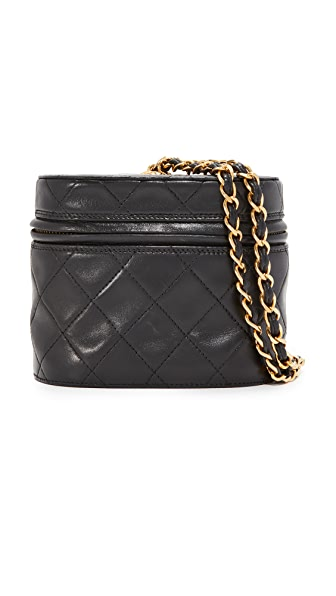 What Goes Around Comes Around Chanel Quilted Bucket Bag (Previously Owned) - Black