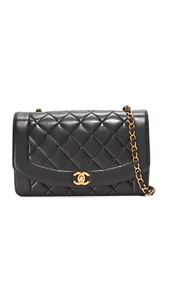 What Goes Around Comes Around Chanel Classic Quilted Bag (Previously Owned) - Black