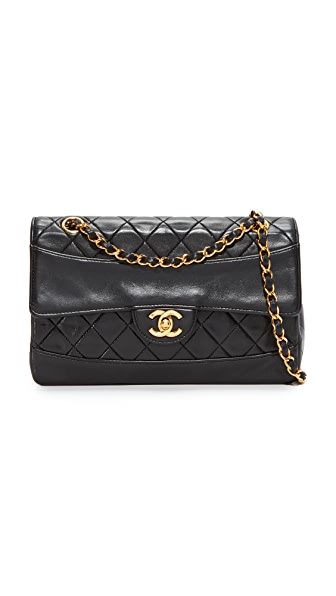 What Goes Around Comes Around Chanel Border Quilted Bag (Previously Owned) In Black
