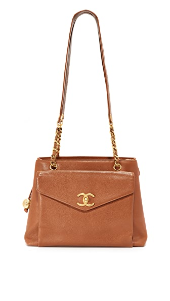 What Goes Around Comes Around Chanel Pocket Tote (Previously Owned) In Brown