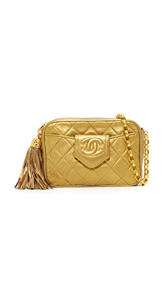 What Goes Around Comes Around Chanel Tab Camera Bag (Previously Owned) - Gold