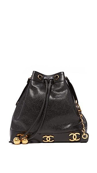 What Goes Around Comes Around Chanel 3 CC Bucket Bag (Previously Owned) - Black