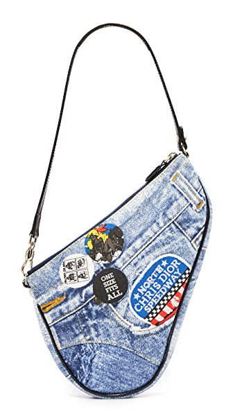 What Goes Around Comes Around Dior Blue Denim Saddle Shoulder Bag (Previously Owned) - Blue