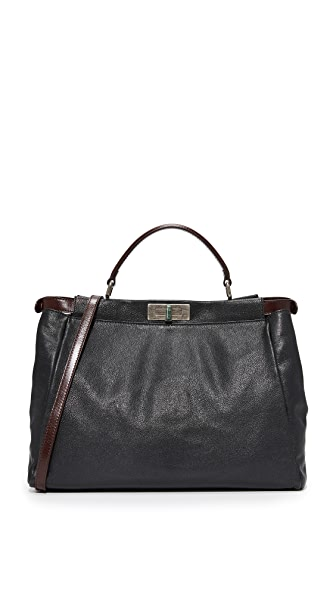 What Goes Around Comes Around Fendi Large Peekaboo Tote (Previously Owned) - Black