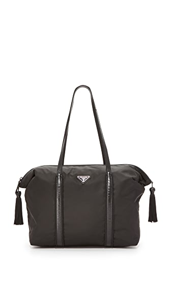 What Goes Around Comes Around Prada Nylon Tote (Previously Owned) - Black