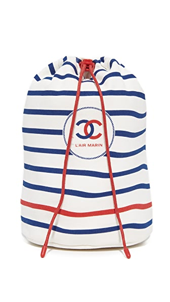 What Goes Around Comes Around Chanel Drawstring Pouch (Previously Owned) - Red/White/Blue