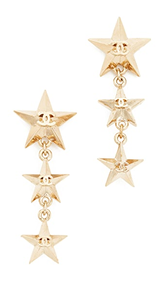 What Goes Around Comes Around Chanel Star Dangle Earrings (Previously Owned)