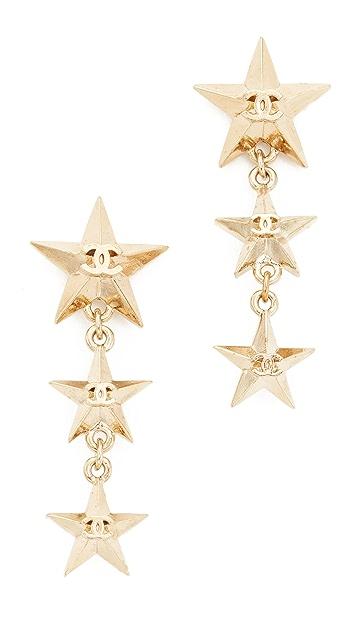 What Goes Around Comes Around Висячие серьги Chanel Star (бывшие в употреблении)