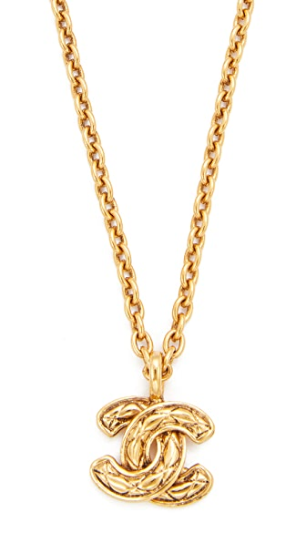 What Goes Around Comes Around Chanel Quilted CC Necklace (Previously Owned)