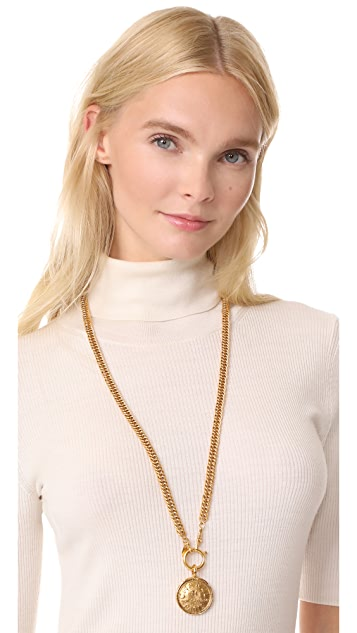 What Goes Around Comes Around Chanel CC Cambon Coin Necklace (Previously Owned)