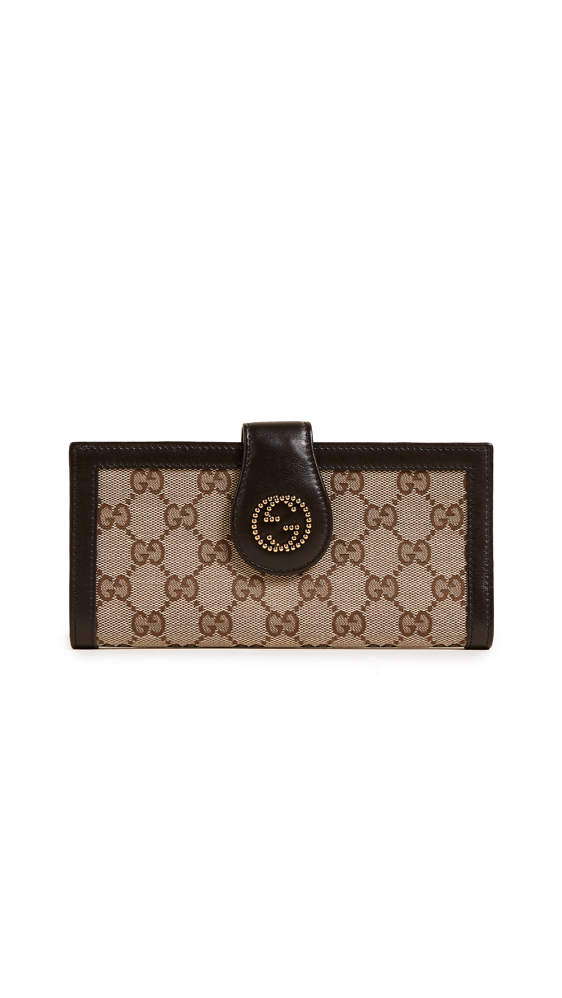 What Goes Around Comes Around Gucci GG Tab Wallet (Previously Owned) - Brown