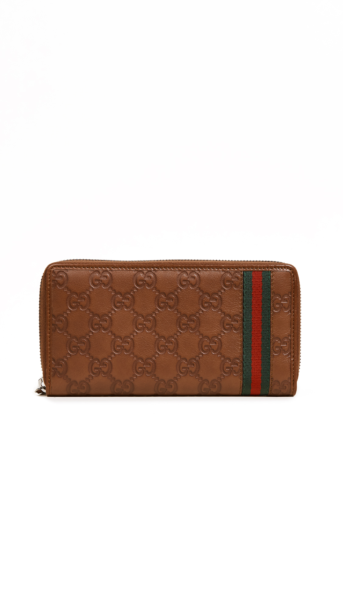 What Goes Around Comes Around Gucci Web Wallet (Previously Owned) - Brown