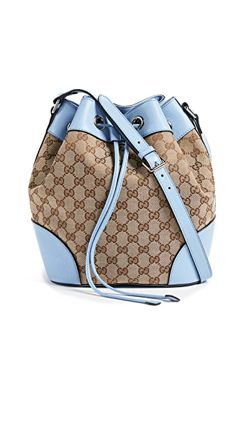 What Goes Around Comes Around Gucci Canvas Classic Bucket Bag (Previously Owned)