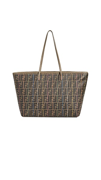 What Goes Around Comes Around Fendi Zucca Spalmati Roll Tote (Previously Owned) In Brown