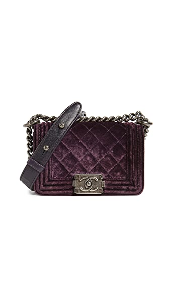 What Goes Around Comes Around Chanel Velvet Boy Mini Bag (Previously Owned) at Shopbop