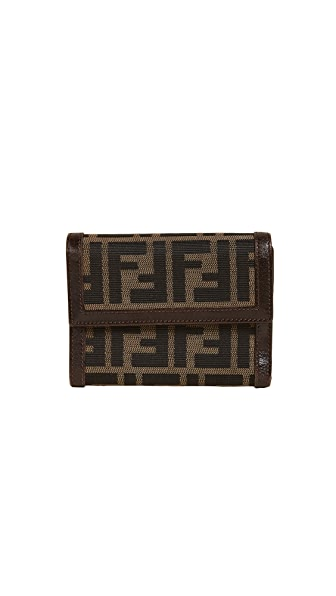 What Goes Around Comes Around Fendi Zucca Wallet (Previously Owned) In Brown