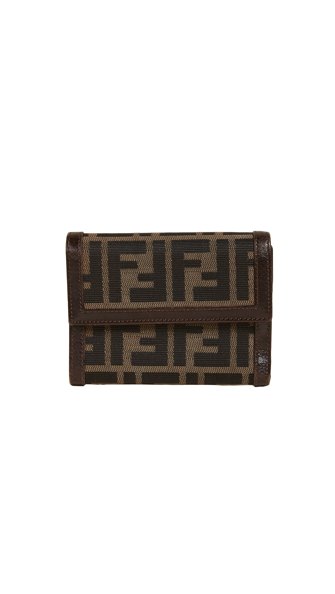 What Goes Around Comes Around Fendi Zucca Wallet (Previously Owned) - Brown