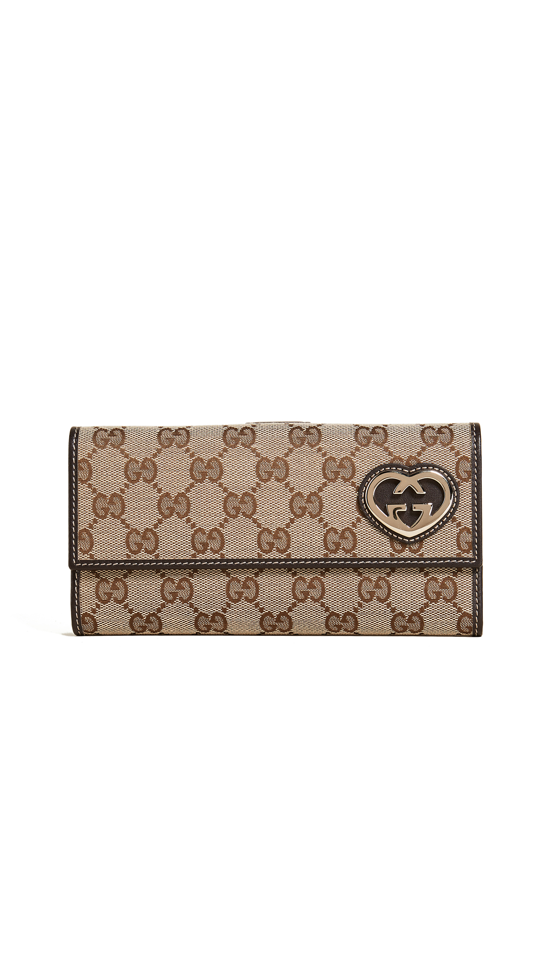 What Goes Around Comes Around Gucci Guccissima Canvas Wallet (Previously Owned) - Brown