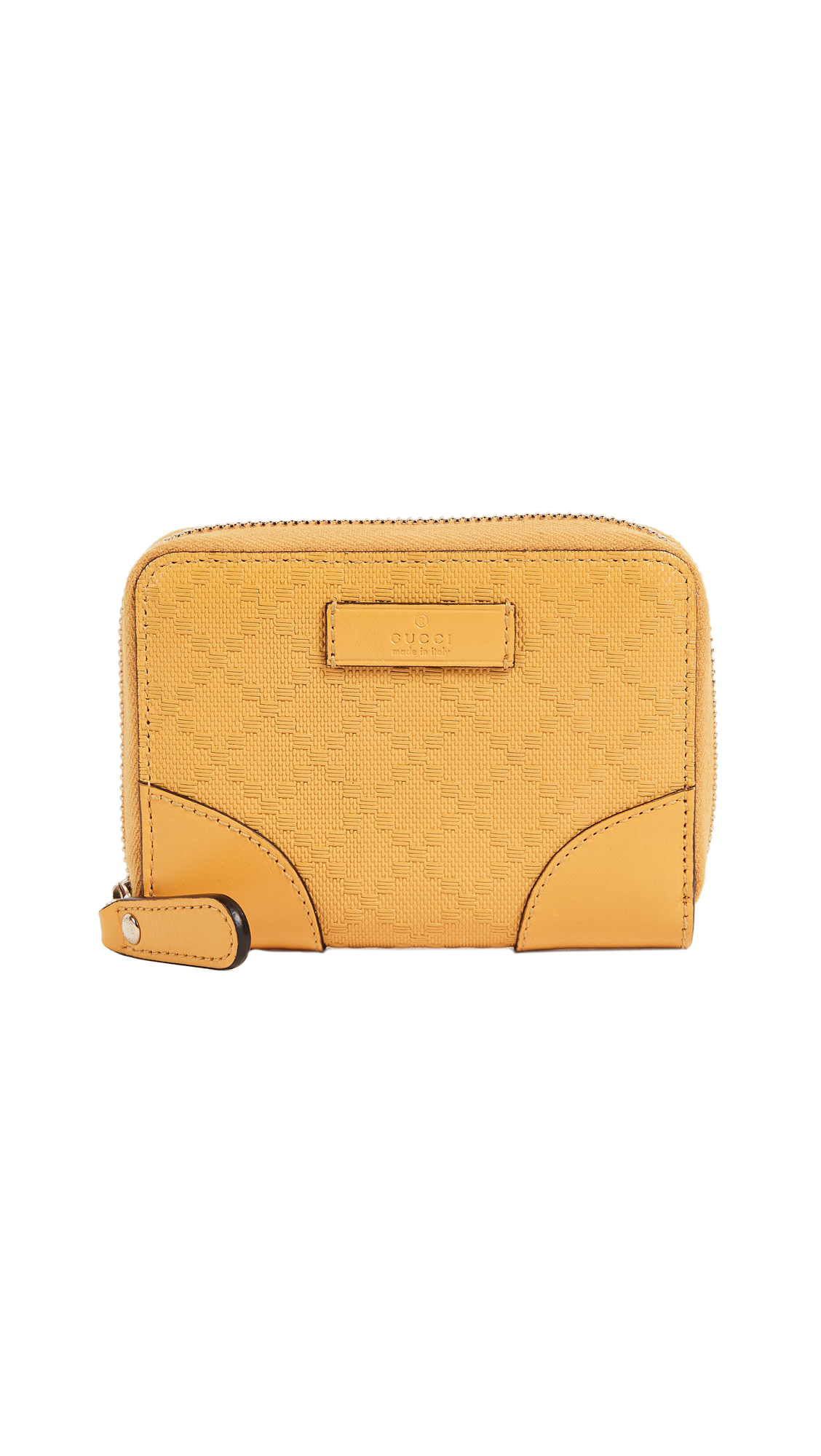 What Goes Around Comes Around Gucci Yellow Diamante Zip Wallet (Previously Owned) - Yellow