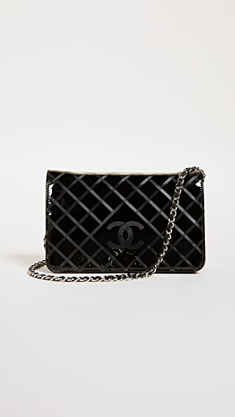 What Goes Around Comes Around Chanel Patent Wallet on a Chain (Previously Owned)