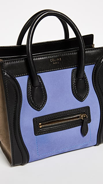 What Goes Around Comes Around Celine Ponyhair Nano Luggage (Previously Owned)