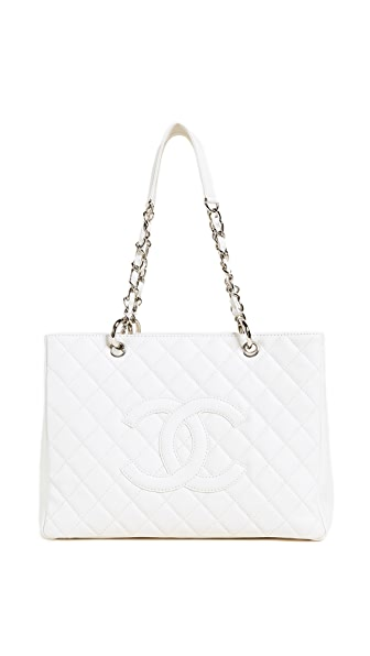 What Goes Around Comes Around Chanel Caviar CC Tote (Previously Owned) In White