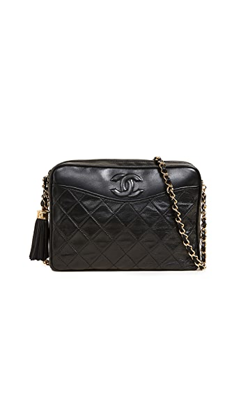 What Goes Around Comes Around Chanel Cameo Pocket Bag (Previously Owned) In Black