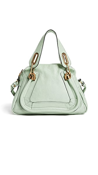What Goes Around Comes Around Small Chloe Leather Paraty Cross Body Bag (Previously Owned) In Green