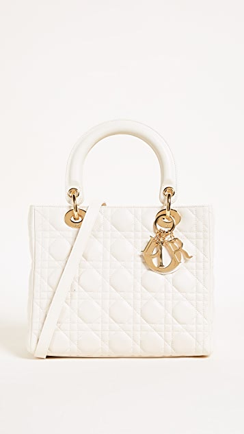 What Goes Around Comes Around Medium Lambskin Lady Dior Bag (Previously Owned)