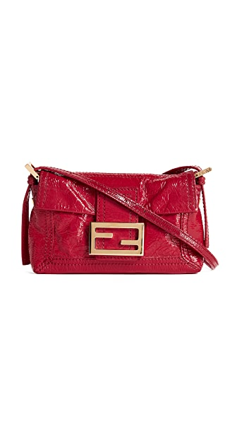 What Goes Around Comes Around Fendi Patent Baguette Bag (Previously Owned) In Red