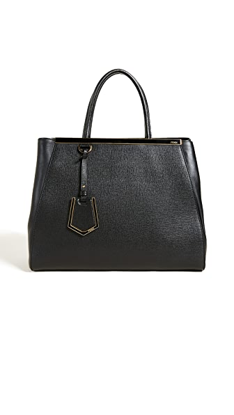 What Goes Around Comes Around Fendi 2Jours Medium Tote (Previously Owned) In Black