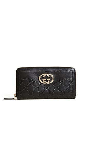 What Goes Around Comes Around Gucci Sukey Wallet (Previously Owned) In Black