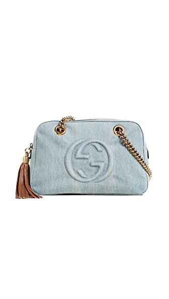 What Goes Around Comes Around Gucci Denim Soho Tote (Previously Owned) In Denim