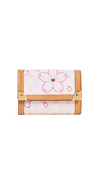 What Goes Around Comes Around Louis Vuitton Murakami AB Print Monnaie Plat Wallet (Previously Owned) at Shopbop