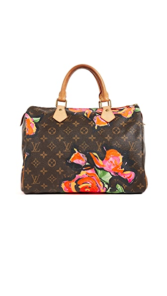 What Goes Around Comes Around LV Roses Speedy 30 Bag (Previously Owned ) In Brown/Red