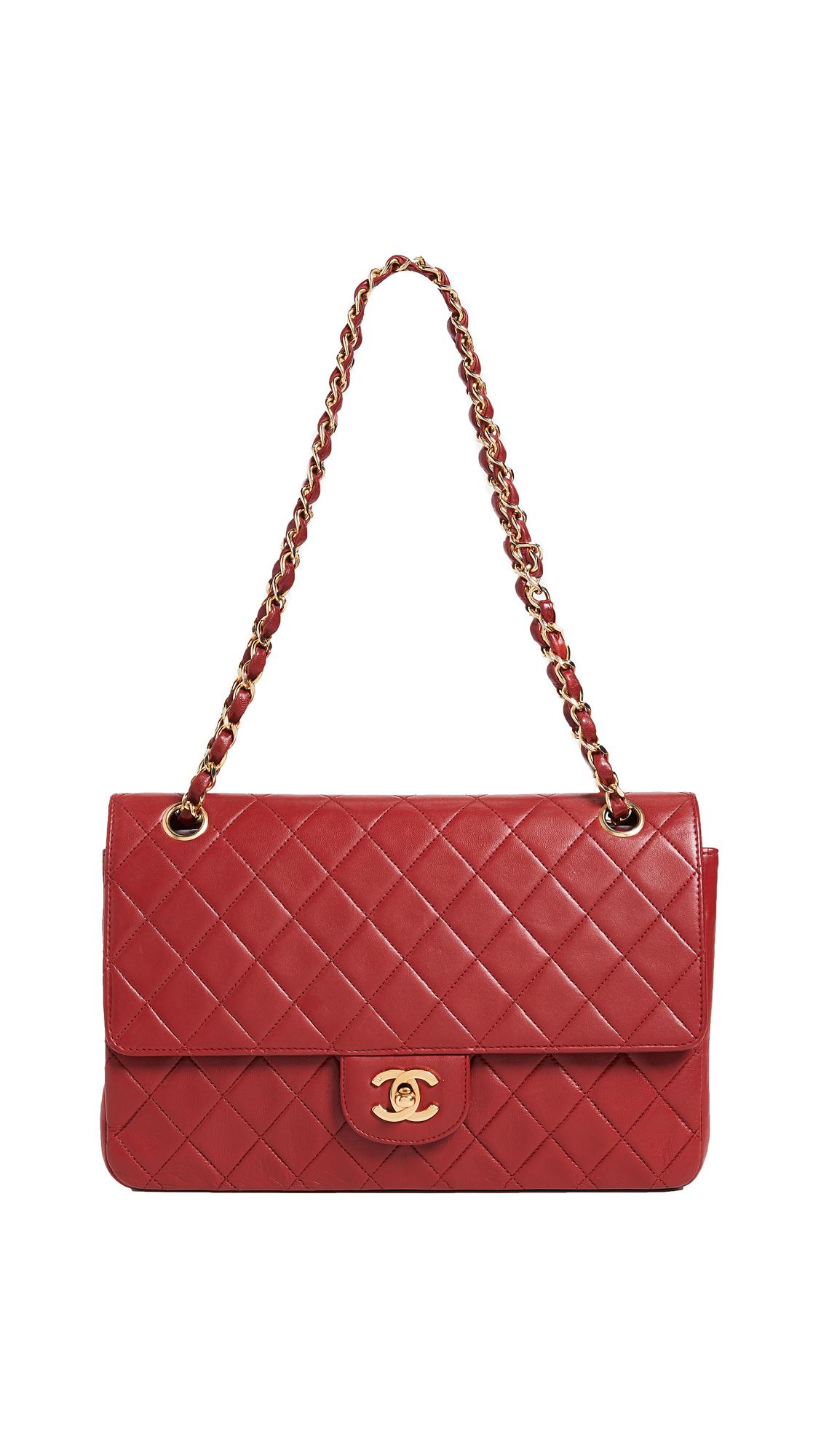 What Goes Around Comes Around Chanel Lambskin Half Flap 11 Bag