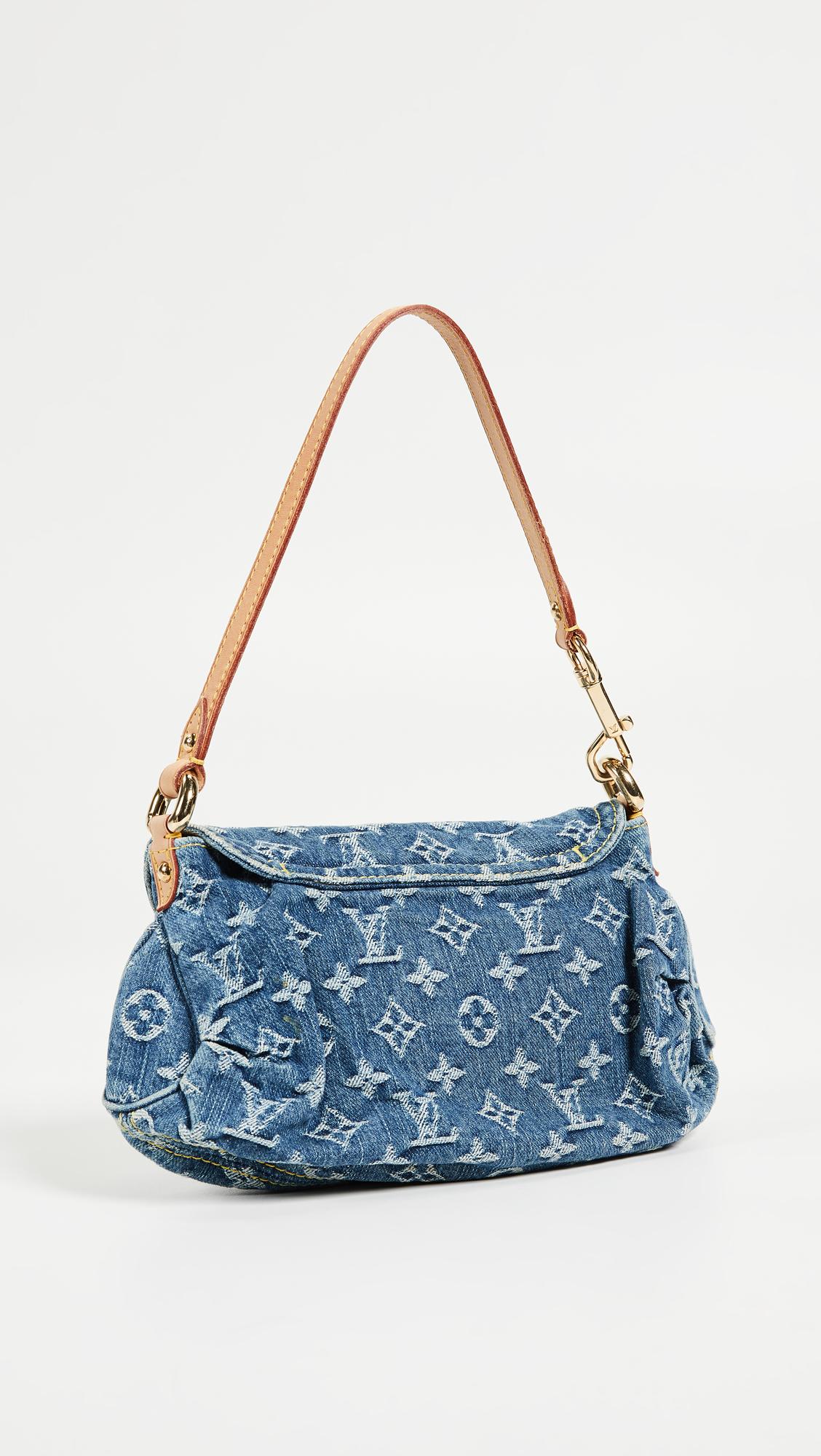 d0ea423d147022 What Goes Around Comes Around. Louis Vuitton Denim Pleaty Mini ...