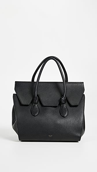 CELINE SMALL LEATHER TIE TOTE