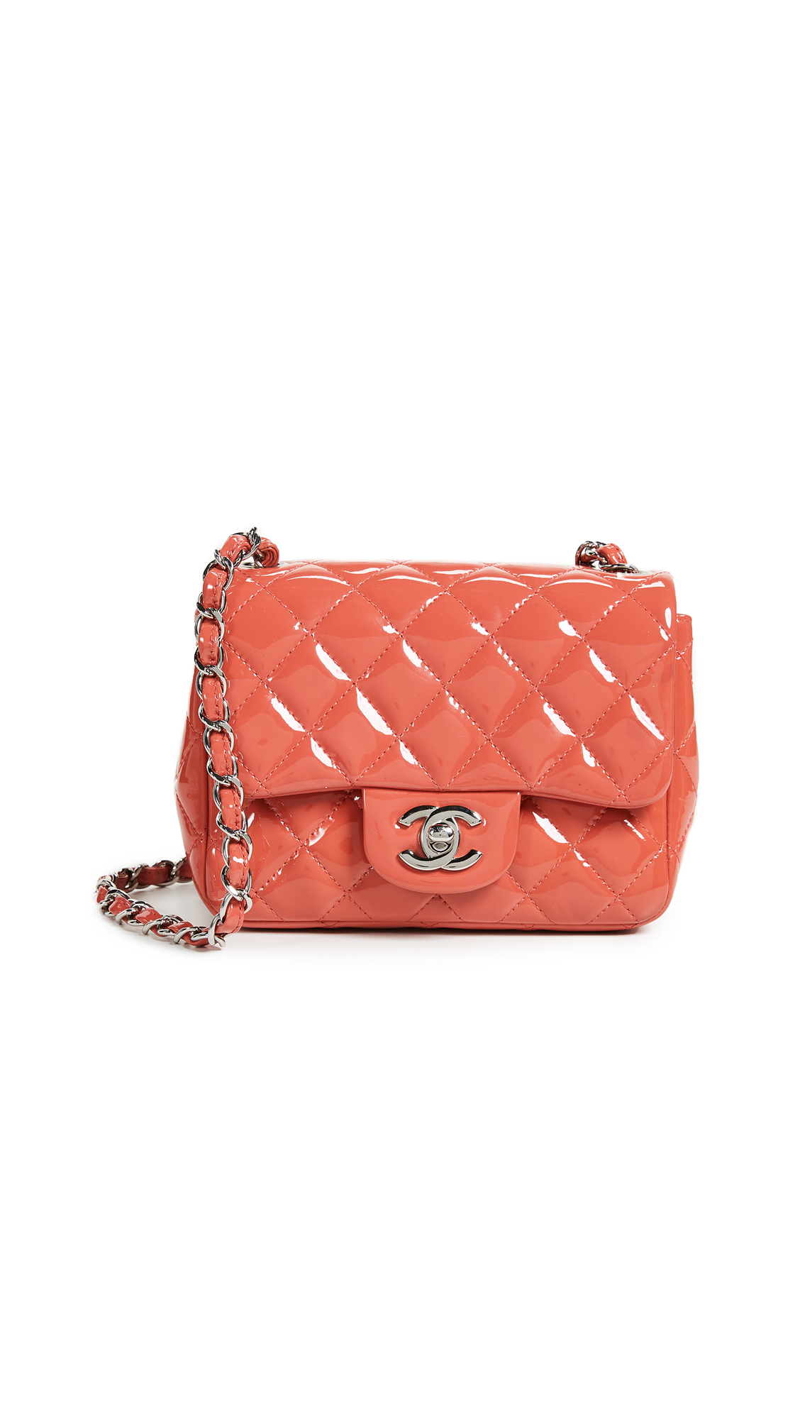 a3605e697890 What Goes Around Comes Around Chanel Patent Mini Flap Bag | SHOPBOP