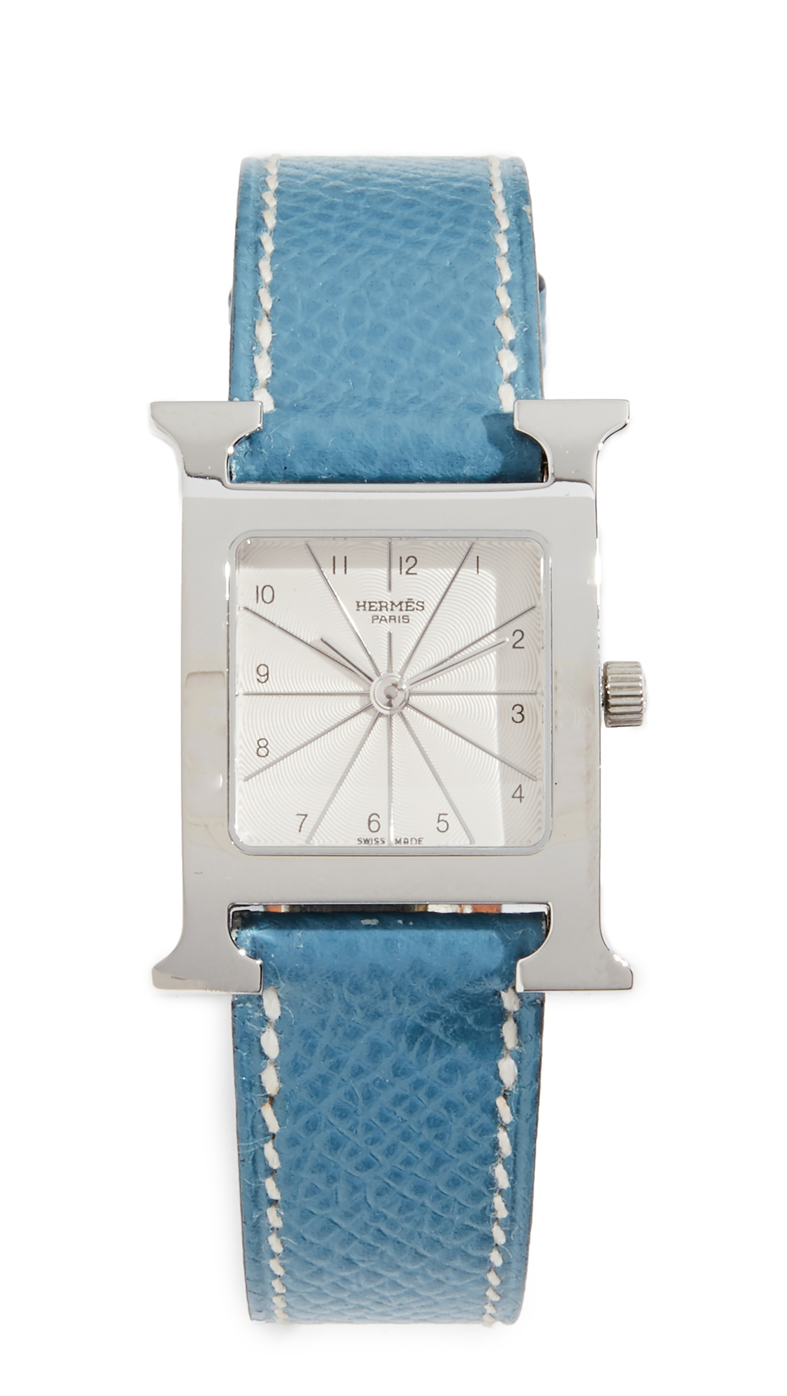 Hermes H Hour Pm Watch, Blue/Silver
