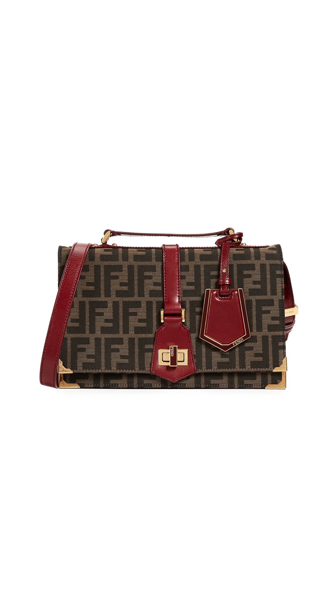b33fc958382d What Goes Around Comes Around Fendi Zucca Shoulder Bag In Red ...