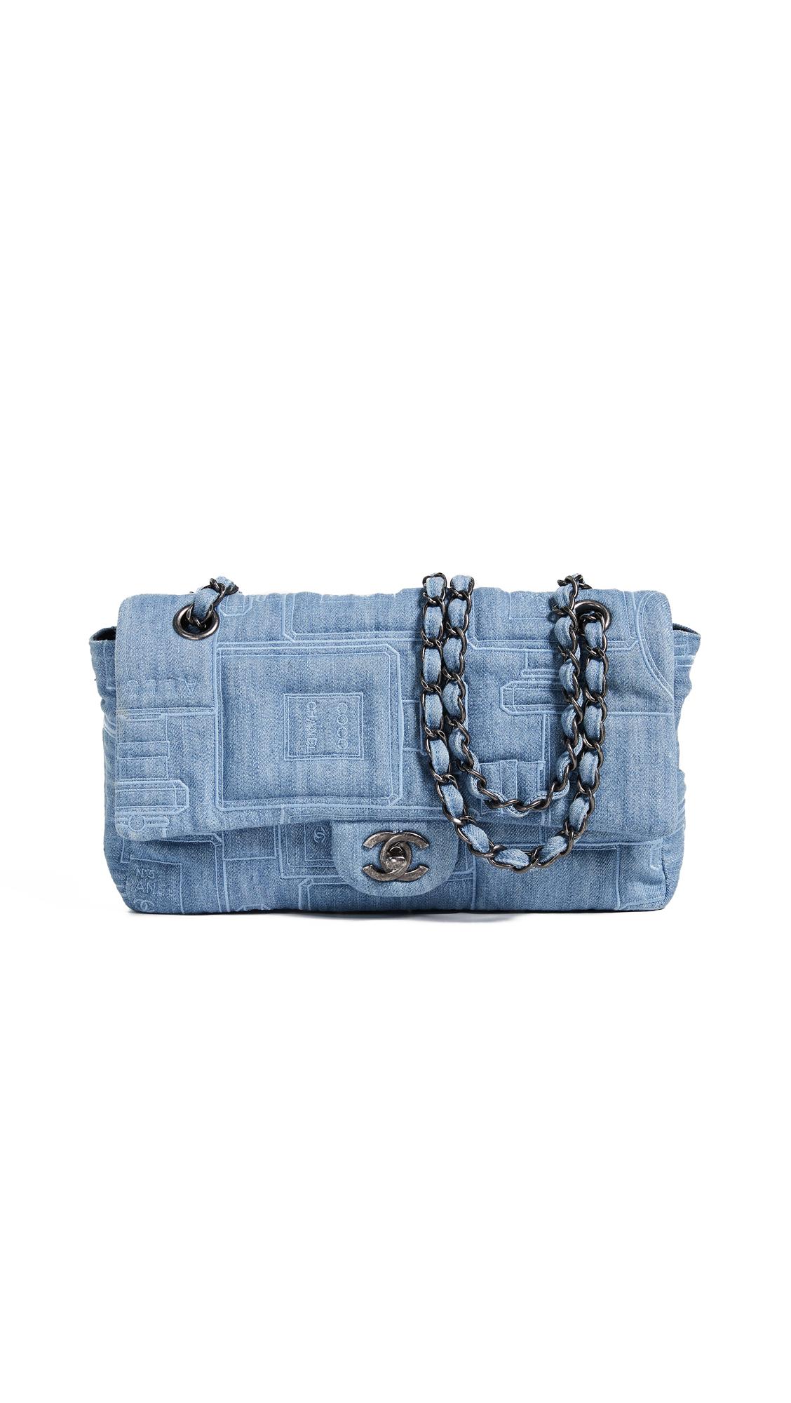 c44a1d06f26ed2 What Goes Around Comes Around Chanel Blue Denim Half Flap 10
