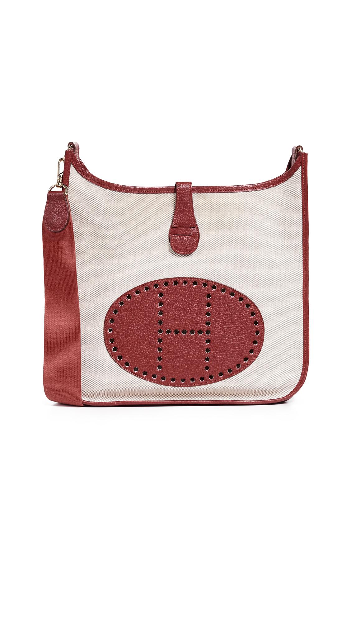 Hermes Red Toile Evelyne I Pm Bag