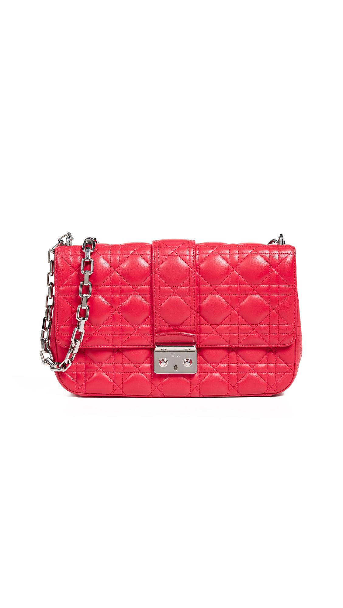 What Goes Around Comes Around Dior Pink Lambskin Miss Dior Medium Bag In Pink