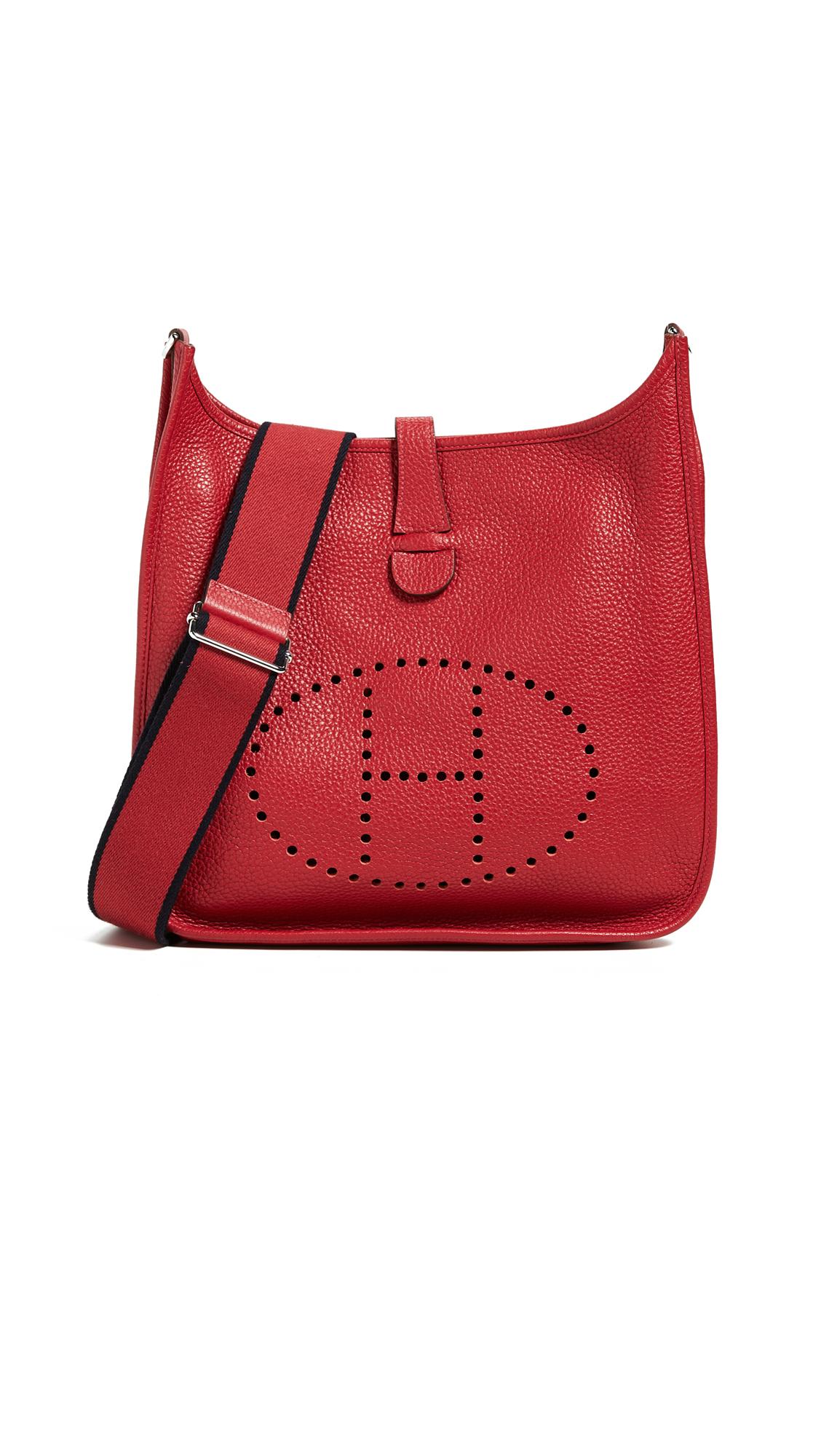 Hermes Clemence Evelyne Bag, Red