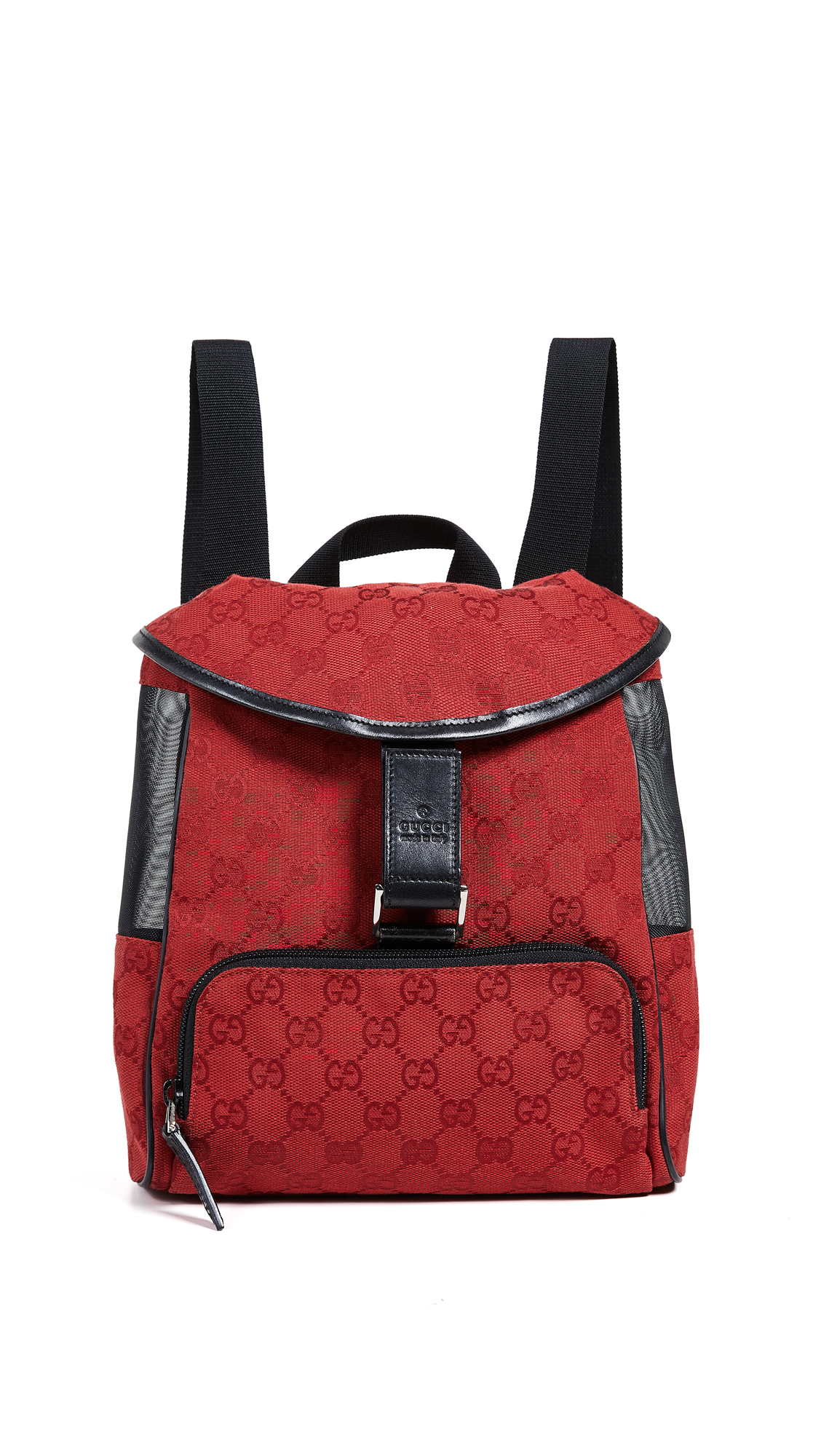 WHAT GOES AROUND COMES AROUND Gucci Canvas Backpack in Red